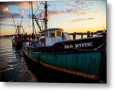 Old Mystic At Dock Metal Print