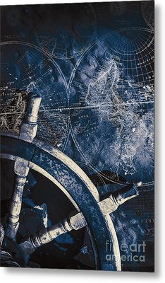 Old Nautical Navigation Metal Print by Jorgo Photography - Wall Art Gallery