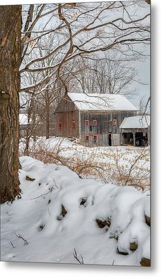 Old New England Winter 2016 Metal Print by Bill Wakeley