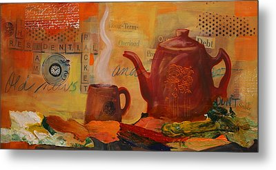 Old News And Breakfast Metal Print by Lynn Chatman