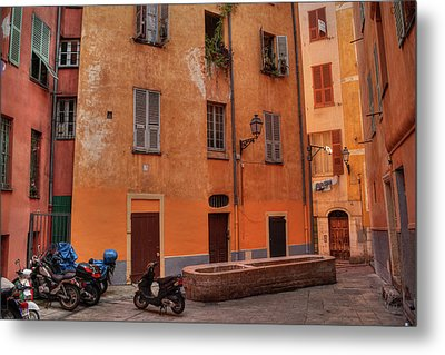 Metal Print featuring the photograph Old Nice - Vieille Ville 010 by Lance Vaughn