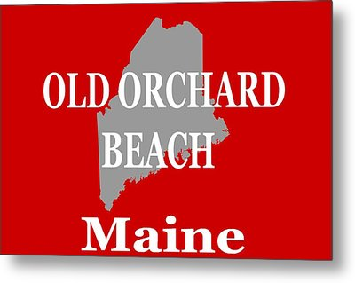 Metal Print featuring the photograph Old Orchard Beach Maine State City And Town Pride  by Keith Webber Jr