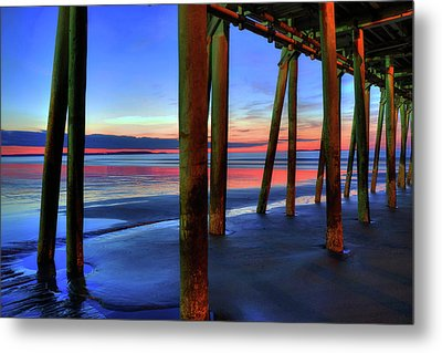 Metal Print featuring the photograph Old Orchard Beach Pier -maine Coastal Art by Joann Vitali