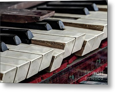 Metal Print featuring the photograph Old Organ Keys by Michal Boubin