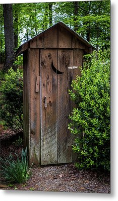 Old Outhouse Metal Print