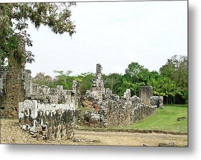 Old Panama City Ruins 8 Metal Print by Douglas Barnett
