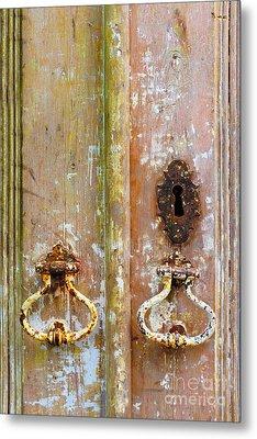 Old Peeling Door Metal Print by Carlos Caetano