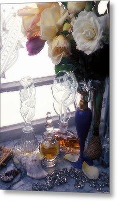 Old Perfume Bottles Metal Print