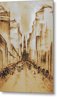 Old Philadelphia City Hall 1920 Metal Print