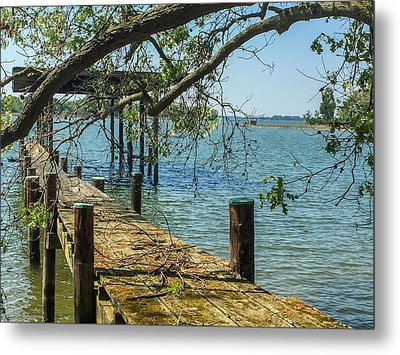 Old Pier On The Tred Avon Metal Print