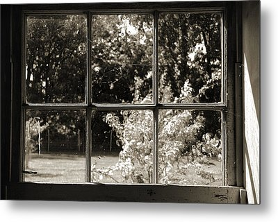 Metal Print featuring the photograph Old Pitted Glass Window 2 by Joanne Coyle