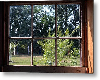 Metal Print featuring the photograph Old Pitted Glass Window by Joanne Coyle
