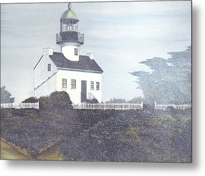 Old Point Loma Lighthouse Metal Print by James Lyman