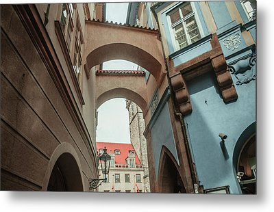 Metal Print featuring the photograph Old Prague Architecture 1 by Jenny Rainbow