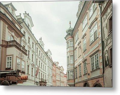 Old Prague Buildings. Staromestska Square Metal Print