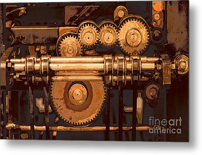 Old Printing Press Metal Print by Ari Salmela