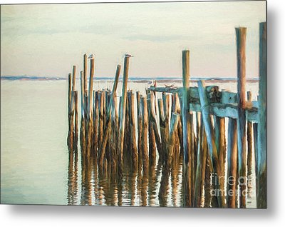 Old Provincetown Wharf Metal Print