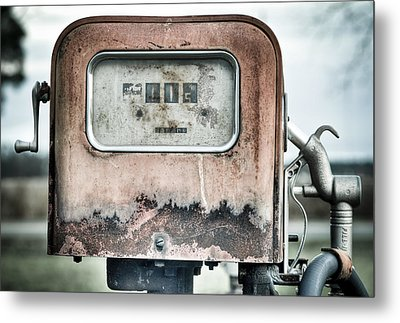 Old Pump Metal Print by Andrew Crispi