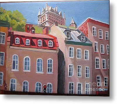 Old Quebec City Metal Print by Stella Sherman