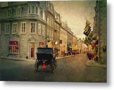 Old Quebec Metal Print by Maria Angelica Maira
