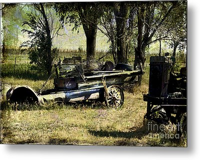 Old Rail Metal Print