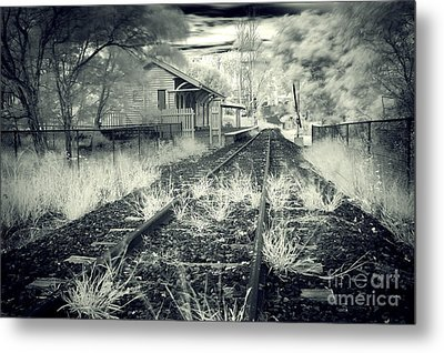 Old Railway Station  Metal Print by Gwenda  Harvey