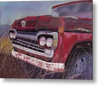 Metal Print featuring the painting Old Red by Arlene Crafton