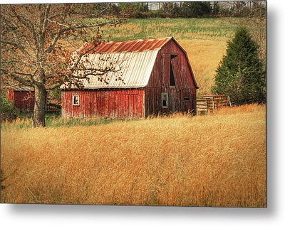 Old Red Barn Metal Print by Tamyra Ayles