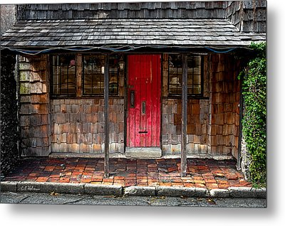 Old Red Door Metal Print by Christopher Holmes