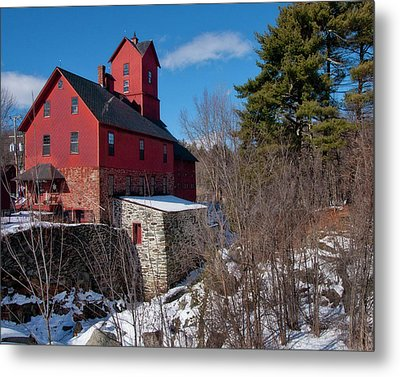 Metal Print featuring the photograph Old Red Mill - Jericho, Vt. by Joann Vitali