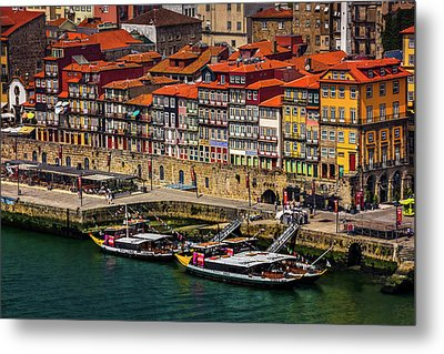 Metal Print featuring the photograph Old Ribeira Porto  by Carol Japp