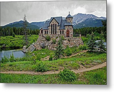 Old Rock Church On A Cloudy Day Metal Print by James Steele