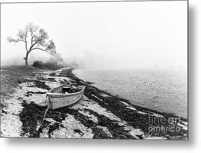 Old Rowing Boat Metal Print by Jane Rix