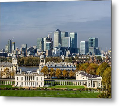 Old Royal Naval College In Greenwich Village, London Metal Print by Frank Bach