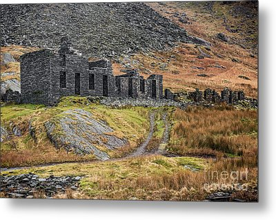Metal Print featuring the photograph Old Ruin At Cwmorthin by Adrian Evans