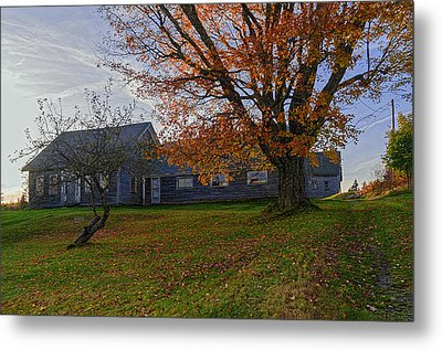 Old Rustic Farmhouse Metal Print by Marty Saccone