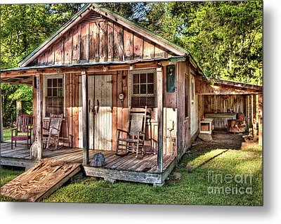 Metal Print featuring the photograph Old Rustic House In The Mountains by Dan Carmichael