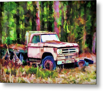 Old Rusty Truck Metal Print by Lanjee Chee