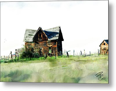 Old Sagging House Metal Print