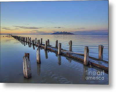 Metal Print featuring the photograph Old Saltair Infrastructure by Spencer Baugh