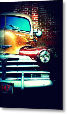 Old Savannah Police Car Metal Print