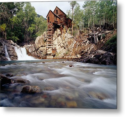 Old Saw Mill, Marble, Colorado, Usa Metal Print by Panoramic Images