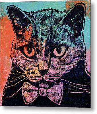 Old School Cat Metal Print by Michael Creese