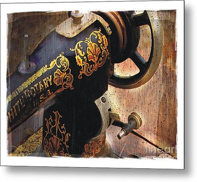 Old Sewing Machine Metal Print by Bob Salo