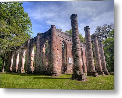 Old Sheldon Church Metal Print by Andreas Freund