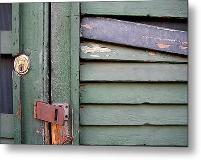 Metal Print featuring the photograph Old Shutters French Quarter by KG Thienemann