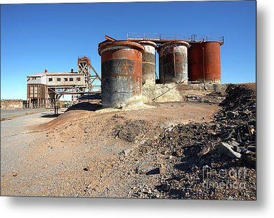 Metal Print featuring the photograph Old Silver Mine Broken Hill by Bill Robinson