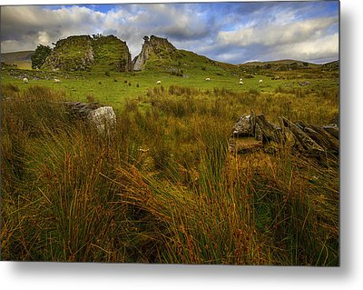 Metal Print featuring the photograph Old Slate Quarry At Rhyd Ddu by Richard Wiggins