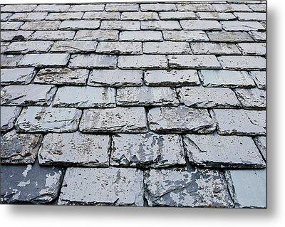 Old Slate Tiles Metal Print by Tom Gowanlock