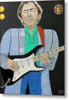 Metal Print featuring the painting Old Slowhand. by Ken Zabel